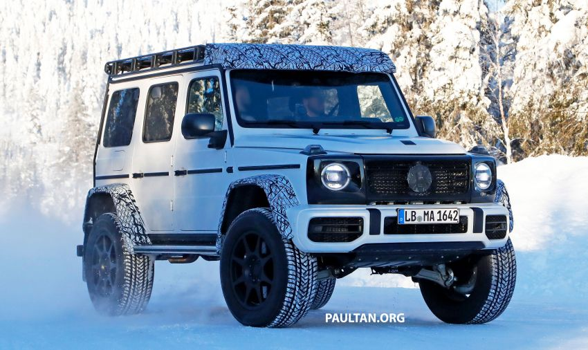SPIED: W464 Mercedes-Benz G-Class 4×4² on test Image #1242411