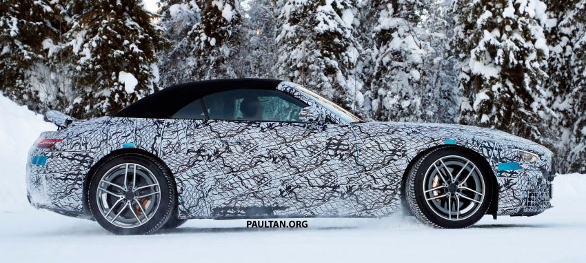 SPYSHOTS: R232 Mercedes-AMG SL – six- and eight-cylinder versions seen running cold-weather tests Image #1250683