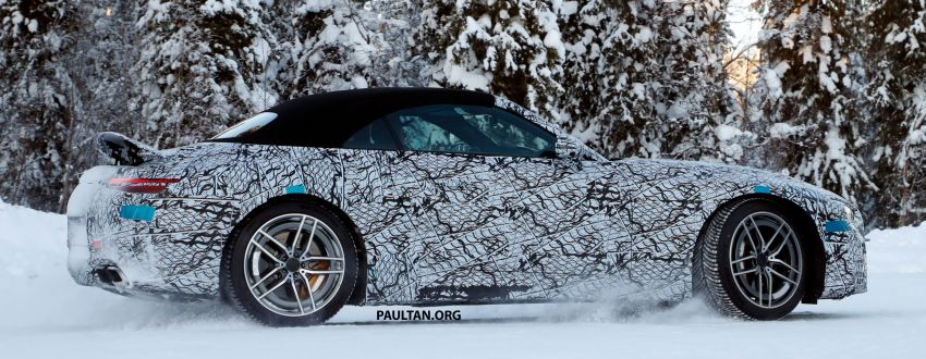 SPYSHOTS: R232 Mercedes-AMG SL – six- and eight-cylinder versions seen running cold-weather tests Image #1250684