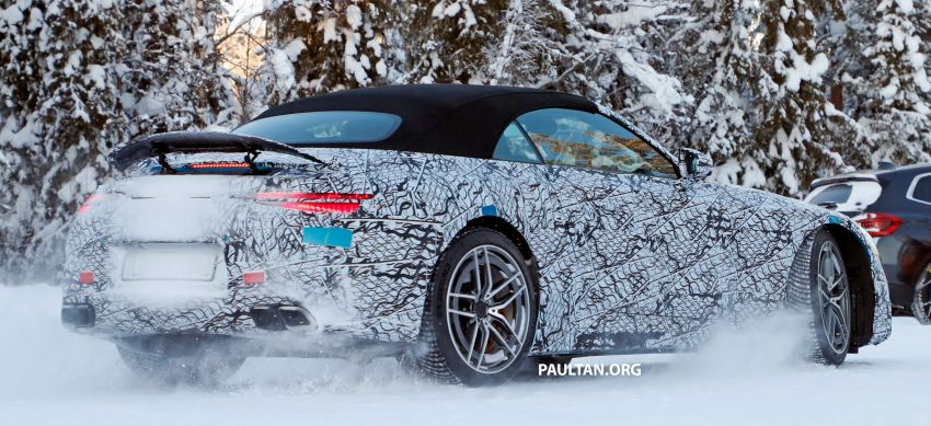 SPYSHOTS: R232 Mercedes-AMG SL – six- and eight-cylinder versions seen running cold-weather tests Image #1250685