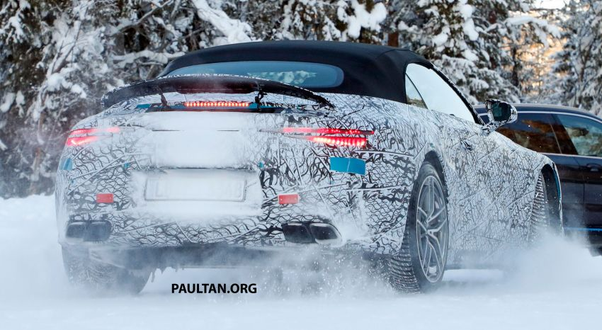 SPYSHOTS: R232 Mercedes-AMG SL – six- and eight-cylinder versions seen running cold-weather tests Image #1250686