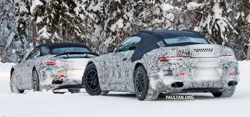 SPYSHOTS: R232 Mercedes-AMG SL – six- and eight-cylinder versions seen running cold-weather tests Image #1250688