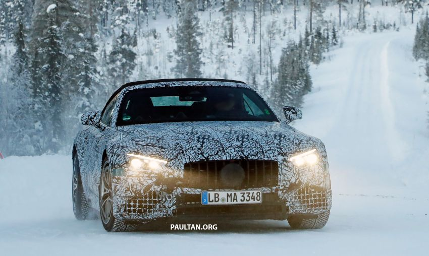 SPYSHOTS: R232 Mercedes-AMG SL – six- and eight-cylinder versions seen running cold-weather tests Image #1250689