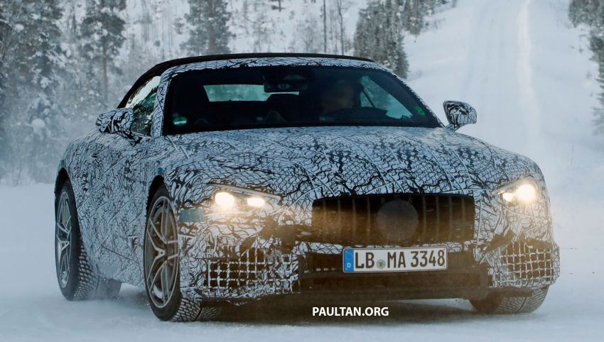 SPYSHOTS: R232 Mercedes-AMG SL – six- and eight-cylinder versions seen running cold-weather tests Image #1250690