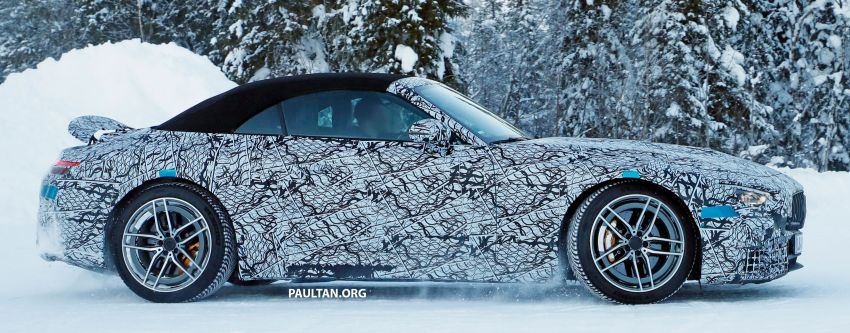 SPYSHOTS: R232 Mercedes-AMG SL – six- and eight-cylinder versions seen running cold-weather tests Image #1250695