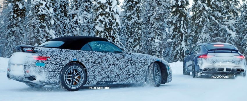 SPYSHOTS: R232 Mercedes-AMG SL – six- and eight-cylinder versions seen running cold-weather tests Image #1250697