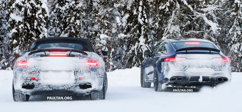 SPYSHOTS: R232 Mercedes-AMG SL – six- and eight-cylinder versions seen running cold-weather tests Image #1250699