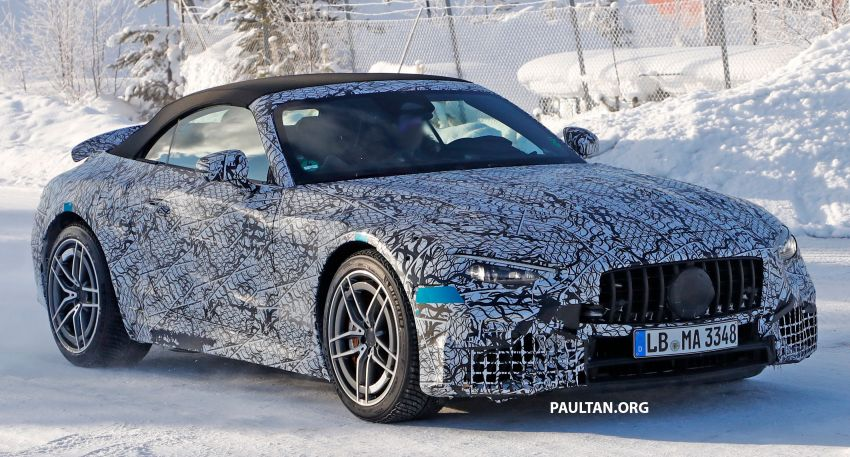SPYSHOTS: R232 Mercedes-AMG SL – six- and eight-cylinder versions seen running cold-weather tests Image #1250701