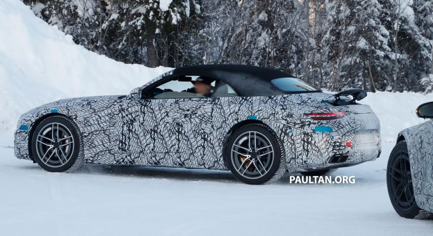 SPYSHOTS: R232 Mercedes-AMG SL – six- and eight-cylinder versions seen running cold-weather tests Image #1250673
