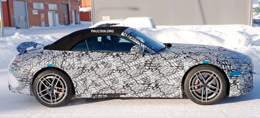 SPYSHOTS: R232 Mercedes-AMG SL – six- and eight-cylinder versions seen running cold-weather tests Image #1250703
