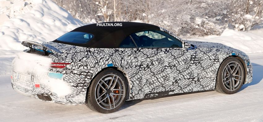 SPYSHOTS: R232 Mercedes-AMG SL – six- and eight-cylinder versions seen running cold-weather tests Image #1250704