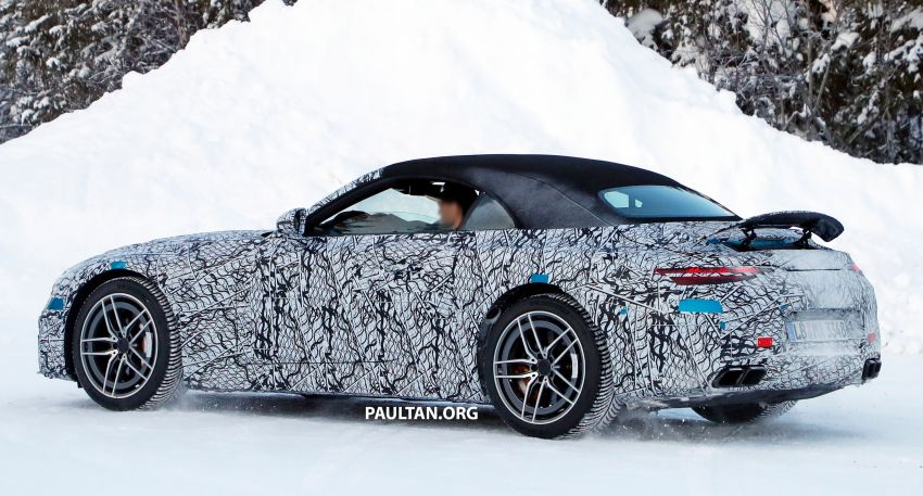 SPYSHOTS: R232 Mercedes-AMG SL – six- and eight-cylinder versions seen running cold-weather tests Image #1250674