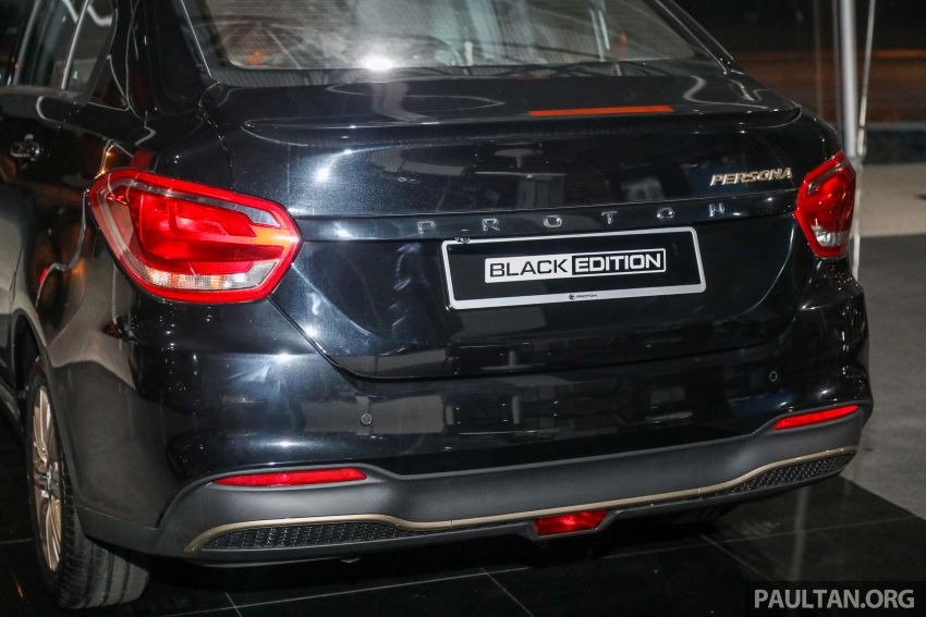 Proton Persona Black Edition dilancarkan – RM54,700 Image #1249757