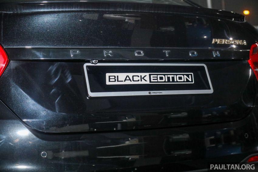 Proton Persona Black Edition dilancarkan – RM54,700 Image #1249760
