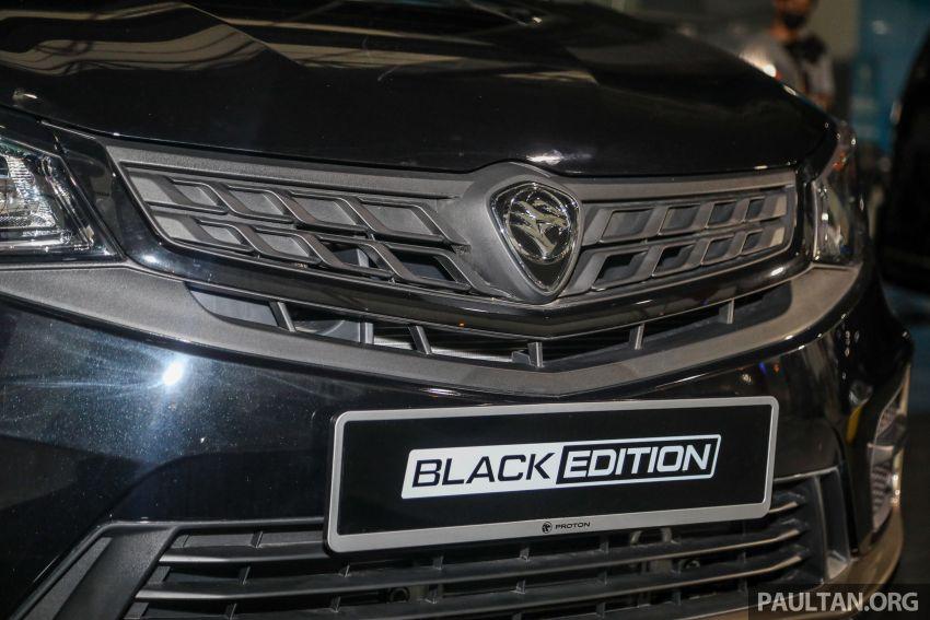 Proton Persona Black Edition dilancarkan – RM54,700 Image #1249749