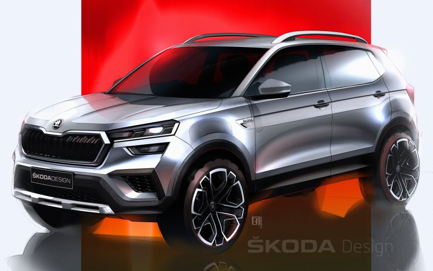 Skoda Kushaq shown in sketches – March 18 reveal Image #1250997