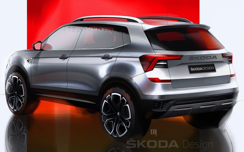 Skoda Kushaq shown in sketches – March 18 reveal Image #1250999