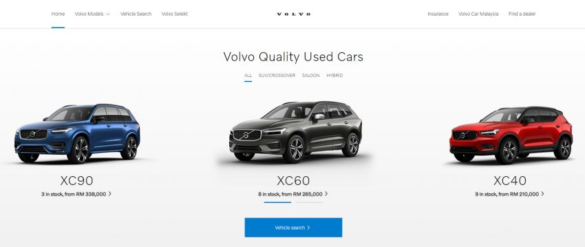 Volvo Used Car Locator launched in Malaysia – new online site to find and buy quality pre-owned Volvos Image #1254333