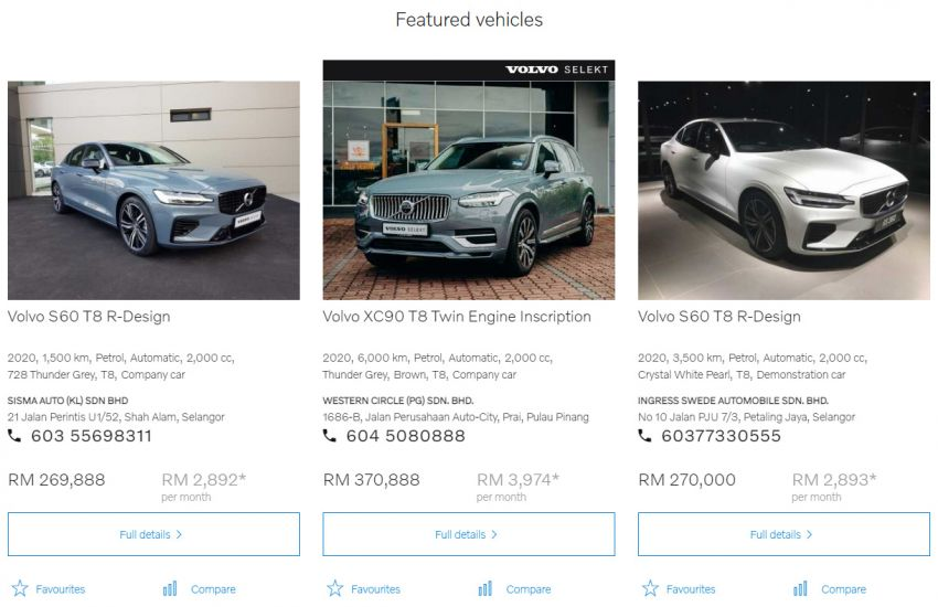 Volvo Used Car Locator launched in Malaysia – new online site to find and buy quality pre-owned Volvos Image #1254334