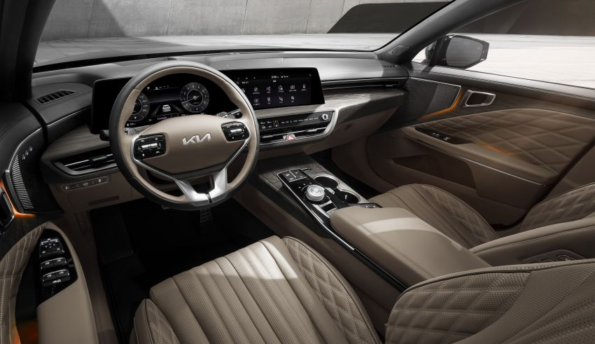 Kia K8 interior revealed ahead of full debut this year Image #1258341