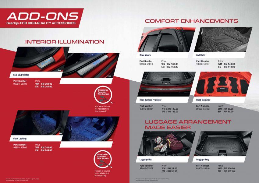 Perodua Ativa 2021 – pelbagai pilihan aksesori GearUp Image #1257487