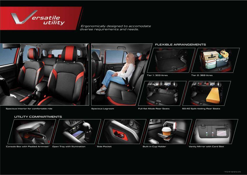 Perodua Ativa 2021 dilancarkan — varian X, H dan AV, 1.0L turbo dengan CVT, ASA 3.0, dari RM61k-RM72k Image #1257713