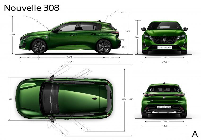 2021 Peugeot 308 revealed – revised C-segment hatch gets new lion badge, bold design and two PHEVs Image #1265462
