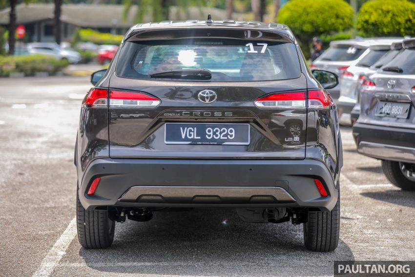 2021 Toyota Corolla Cross launched in Malaysia – two variants, 1.8L with 139 PS and 172 Nm, CVT; fr RM124k Image #1268339