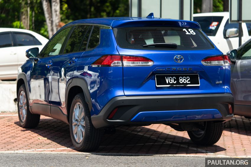 2021 Toyota Corolla Cross launched in Malaysia – two variants, 1.8L with 139 PS and 172 Nm, CVT; fr RM124k Image #1268205