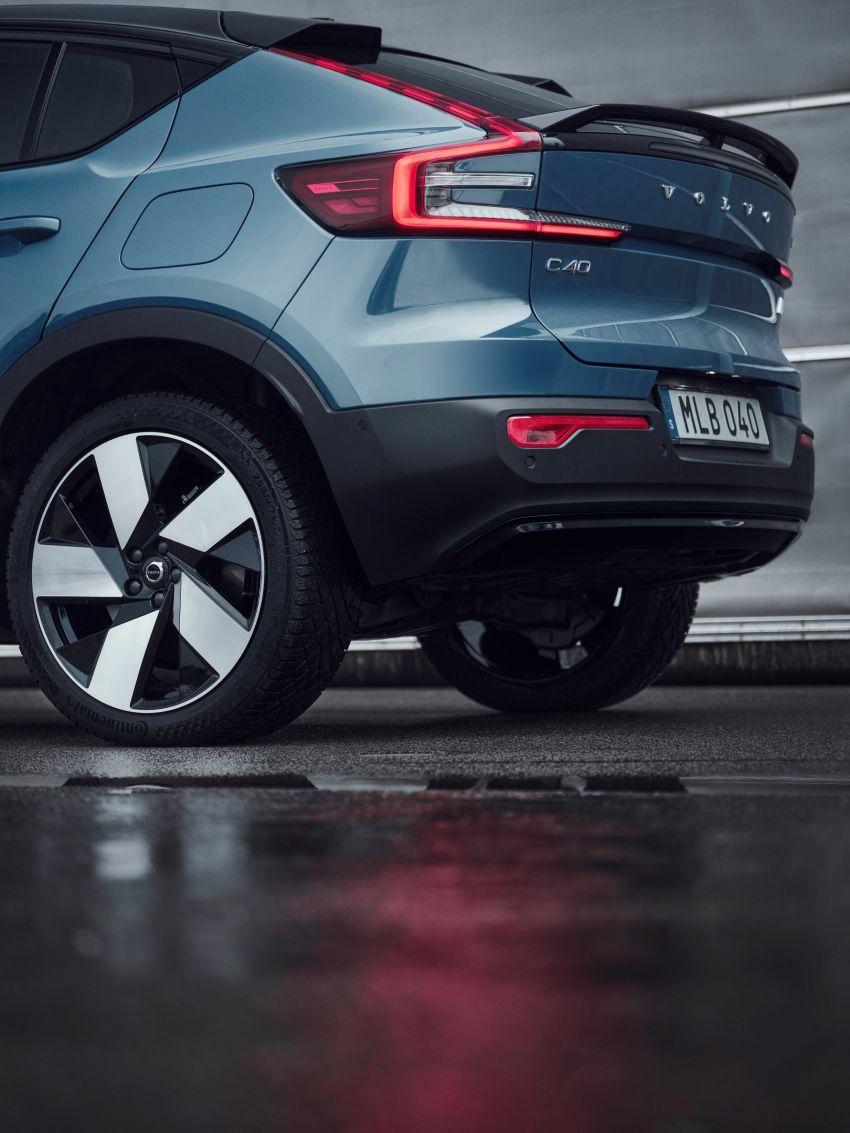 Volvo C40 Recharge didedahkan – SUV Coupe elektrik sepenuhnya, P8 AWD berkuasa 408 PS/660 Nm! Image #1256597