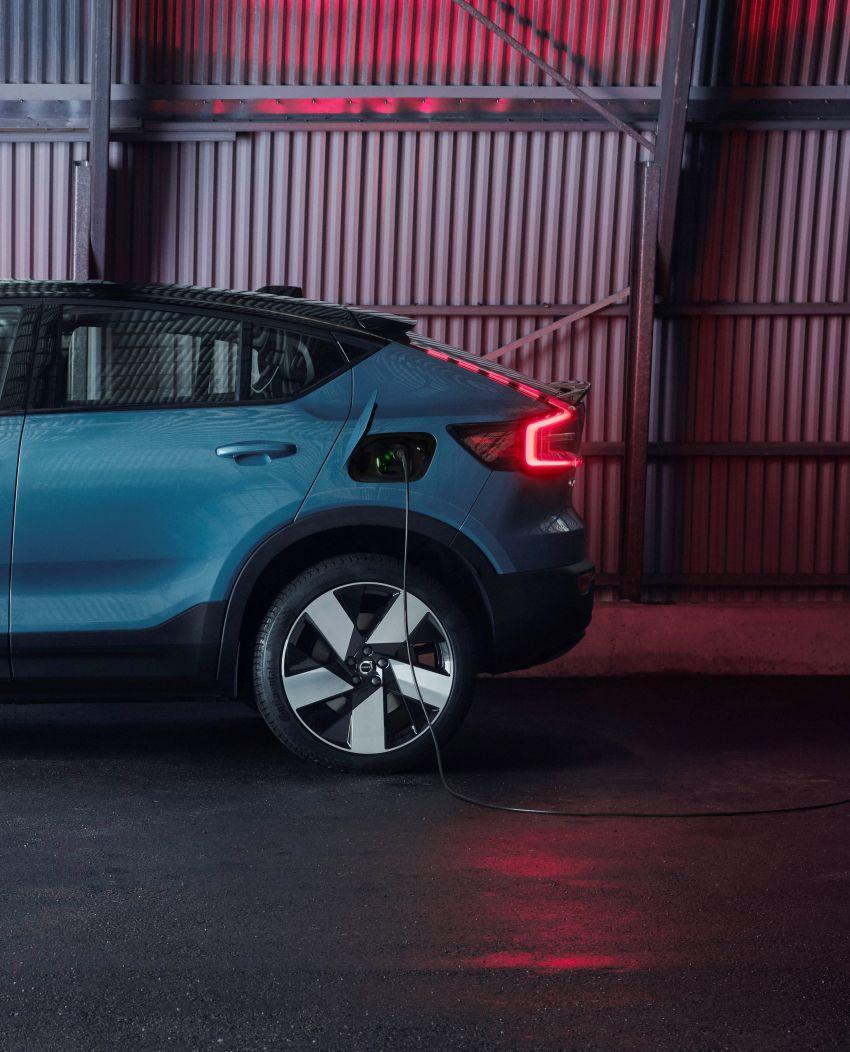 Volvo C40 Recharge didedahkan – SUV Coupe elektrik sepenuhnya, P8 AWD berkuasa 408 PS/660 Nm! Image #1256613