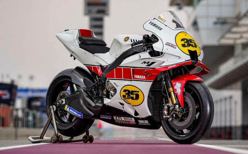 Yamaha YZR-M1 celebrates Yamaha Motor Co's 60th year in Motorcycle Grand Prix with special livery Image #1262068
