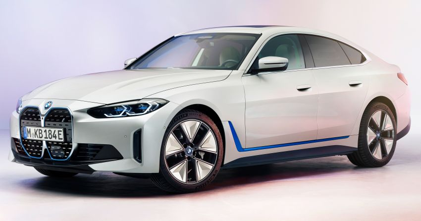 BMW i4 electric 4-door coupé revealed in first photos Image #1264693