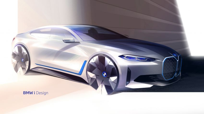BMW i4 electric 4-door coupé revealed in first photos Image #1264698