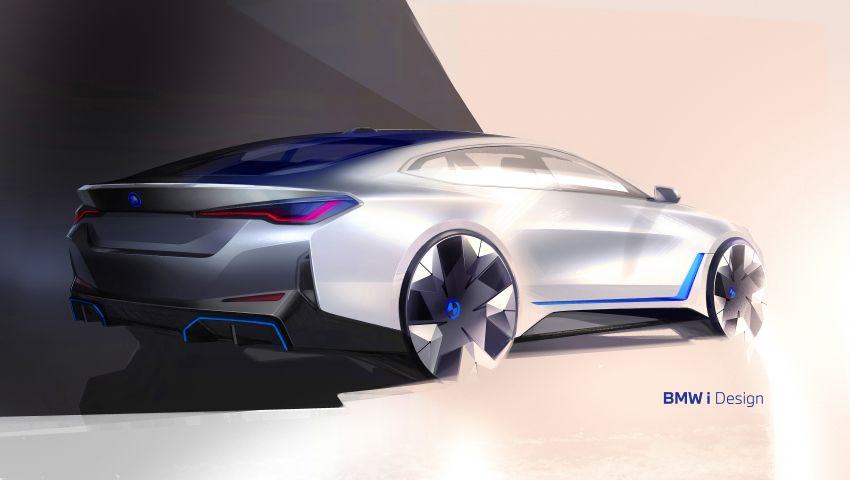 BMW i4 electric 4-door coupé revealed in first photos Image #1264699