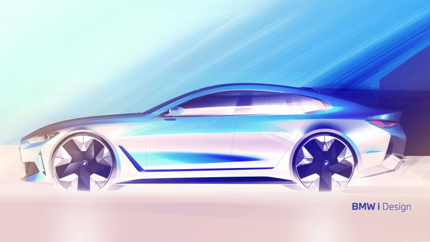 BMW i4 electric 4-door coupé revealed in first photos Image #1264700