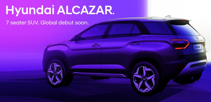 Hyundai Alcazar teased – seven-seater SUV for India Image #1267750