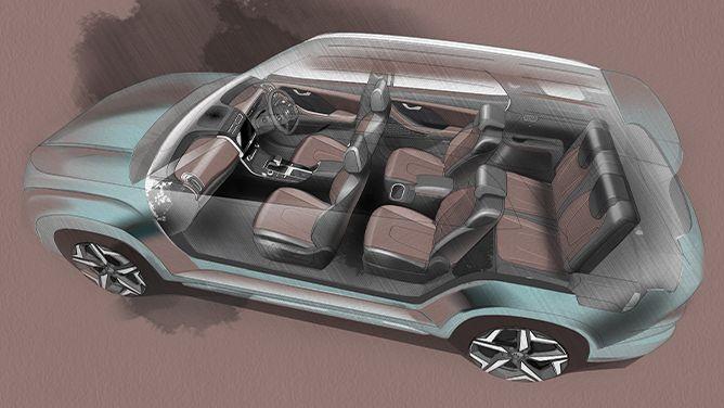 Hyundai Alcazar teased – seven-seater SUV for India Image #1267753