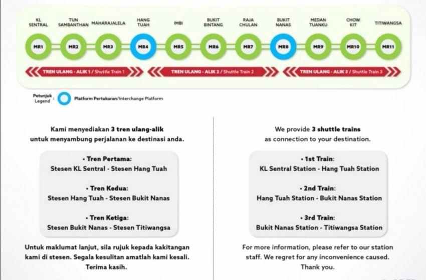 KL Monorail alami isu teknikal hari ini, hanya 3 tren ulang-alik disediakan, beroperasi dari Platform 2 saja Image #1263218