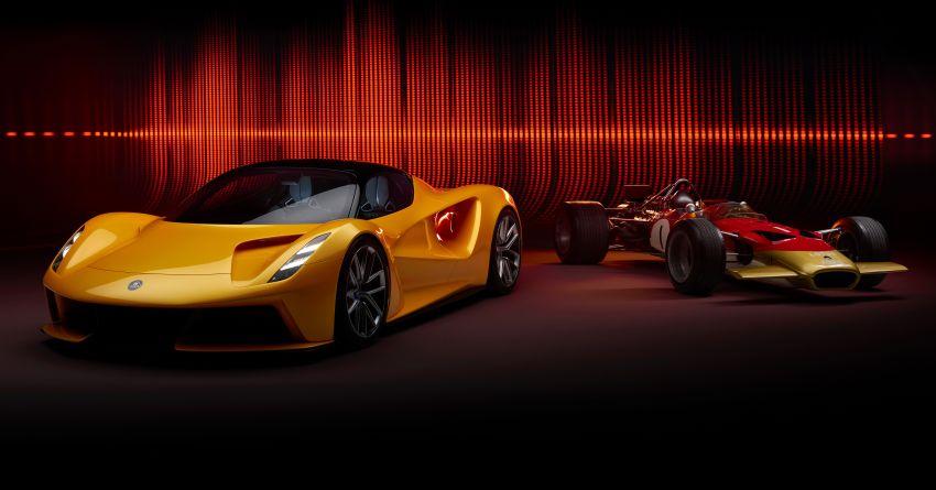"""Lotus Evija dapat """"bunyi enjin"""" palsu dari enjin V8 jentera F1 Type 49, hasil kerja produser muzik British Image #1263591"""