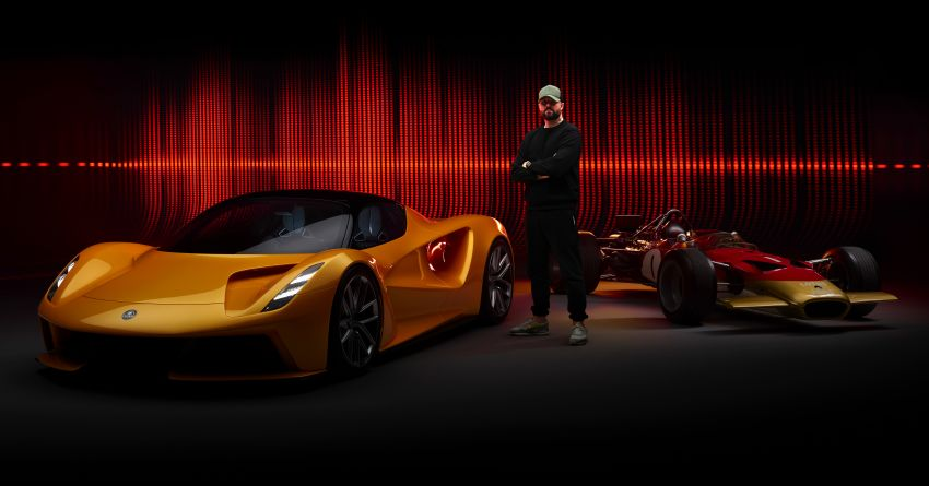 """Lotus Evija dapat """"bunyi enjin"""" palsu dari enjin V8 jentera F1 Type 49, hasil kerja produser muzik British Image #1263594"""