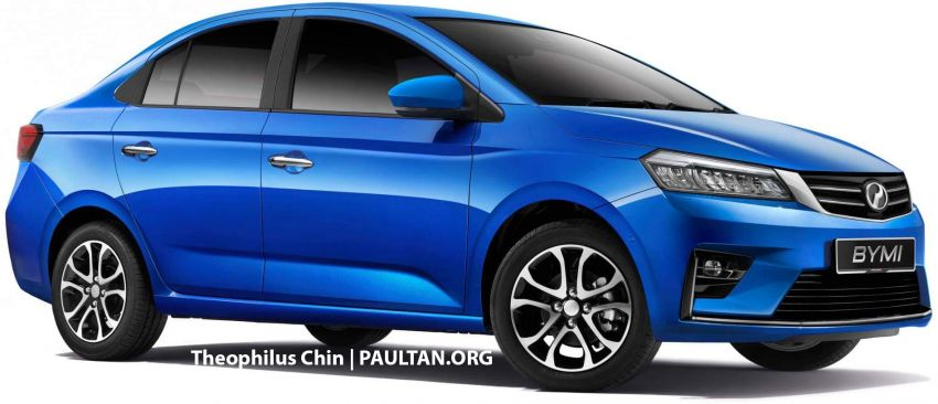 Perodua Myvi sedan rendered with Ativa design cues Image #1263608