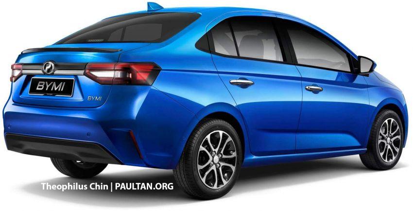 Perodua Myvi sedan rendered with Ativa design cues Image #1263609