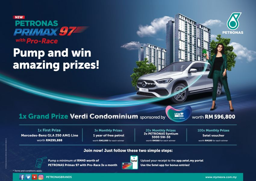Petronas Primax 97 with Pro-Race pump and win contest – win a condo, Mercedes-Benz GLA and more Image #1256117