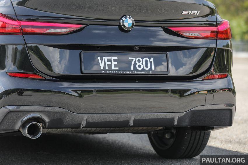 PANDU UJI: BMW 218i M Sport Gran Coupe memang menang gaya; prestasi pada skala sederhana Image #1274841