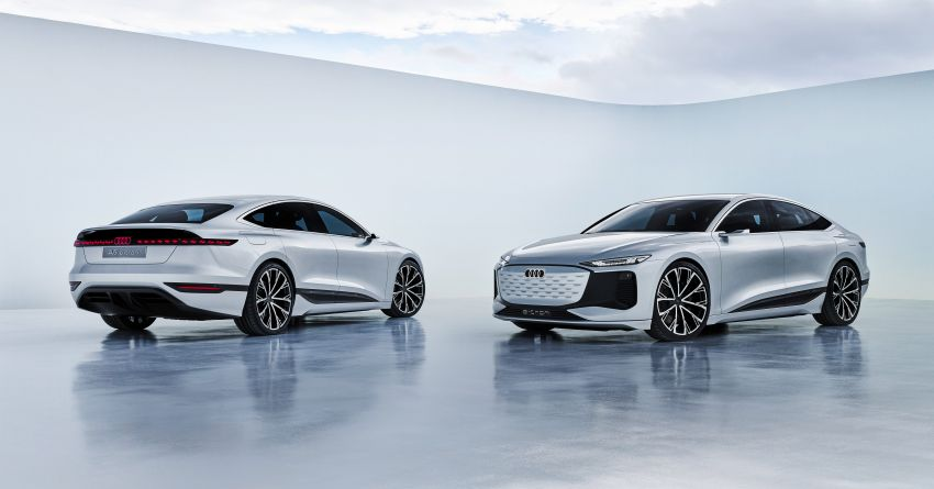 2021 Audi A6 e-tron concept debuts at Shanghai show – PPE-based EV, 100 kWh battery, up to 700 km range! Image #1283645