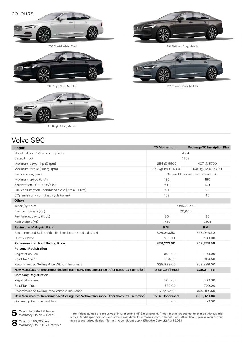 2021 Volvo S90 facelift launched in Malaysia – two variants; Recharge T8 Inscription Plus from RM339k Image #1285545