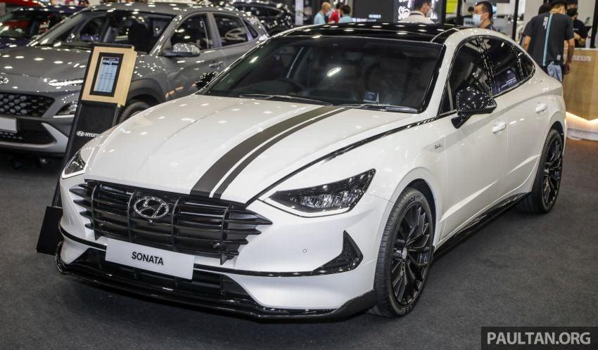 Hyundai Sonata Bob G Edition on display at ACE 2021 – black decals, 19-inch wheels, no change in price Image #1283068