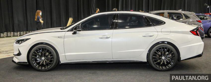 Hyundai Sonata Bob G Edition on display at ACE 2021 – black decals, 19-inch wheels, no change in price Image #1283070