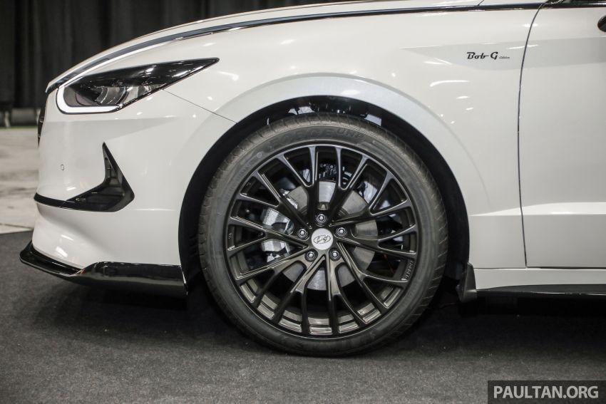 Hyundai Sonata Bob G Edition on display at ACE 2021 – black decals, 19-inch wheels, no change in price Image #1283076